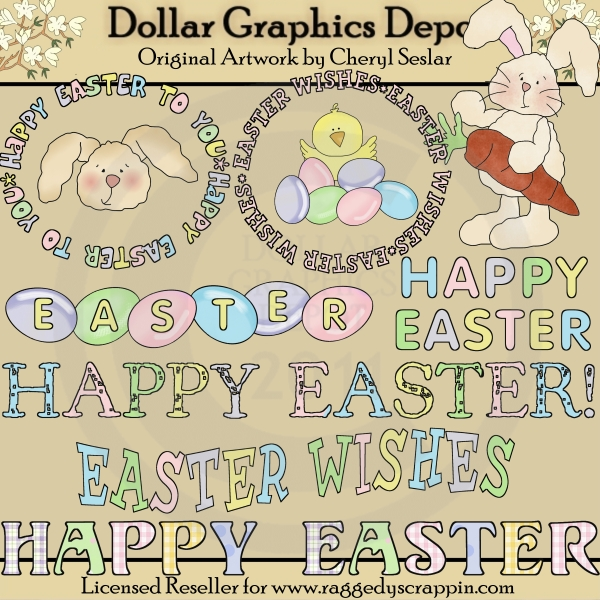 Happy Easter Sentiments - Clip Art - Click Image to Close