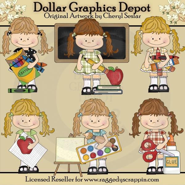 Happy Lulu - Goes To School - $1.00 : Dollar Graphics ...