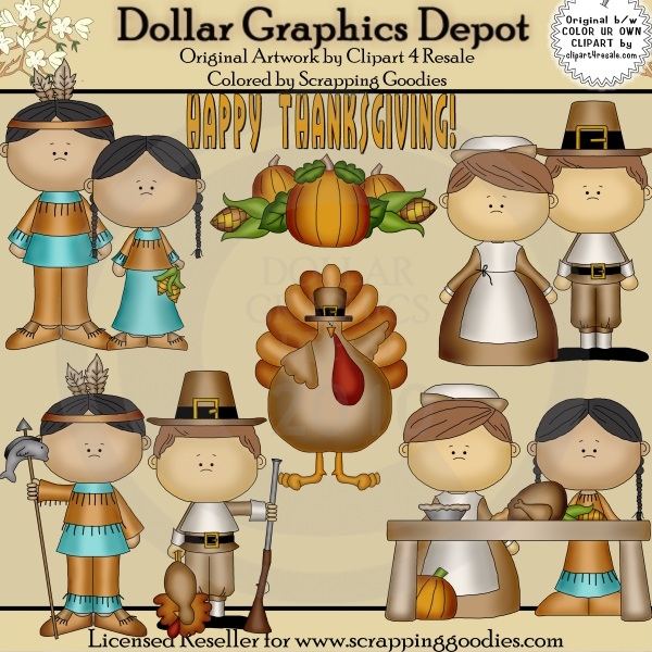 Happy Thanksgiving - Clip Art - Click Image to Close