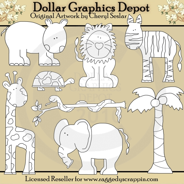 Jungle Critters - Digital Stamps - *DGD Exclusive* - Click Image to Close