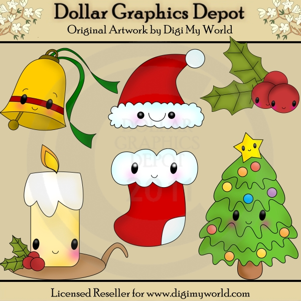 Kawaii Christmas.Kawaii Christmas 1 00 Dollar Graphics Depot Quality