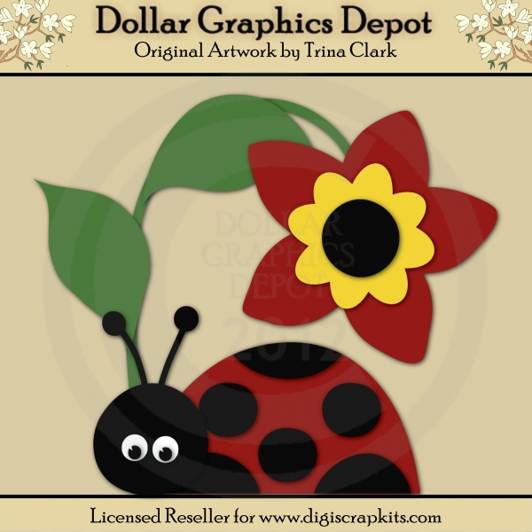 Ladybug Love 1 - Cutting Files / Paper Piecing Patterns - Click Image to Close