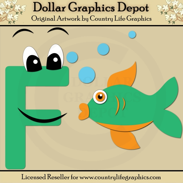 Alphabet Letter F Cutting Files Paper Piecing Patterns by