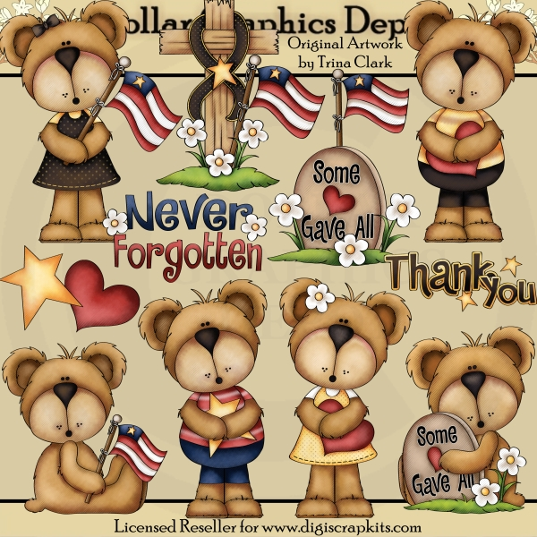 Loving Memory Bears - Clip Art