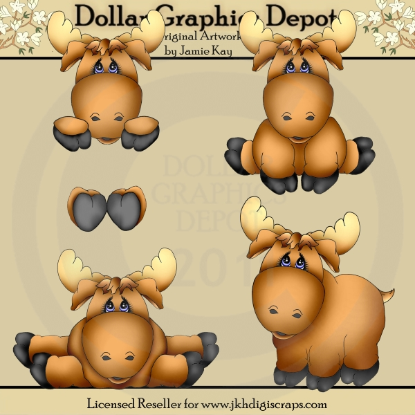 Baby Boy Moose Clipart Three Pigs Clipart. Th...