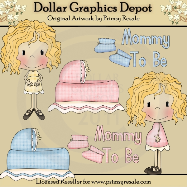 Mommy To Be 1 - Clip Art - Click Image to Close