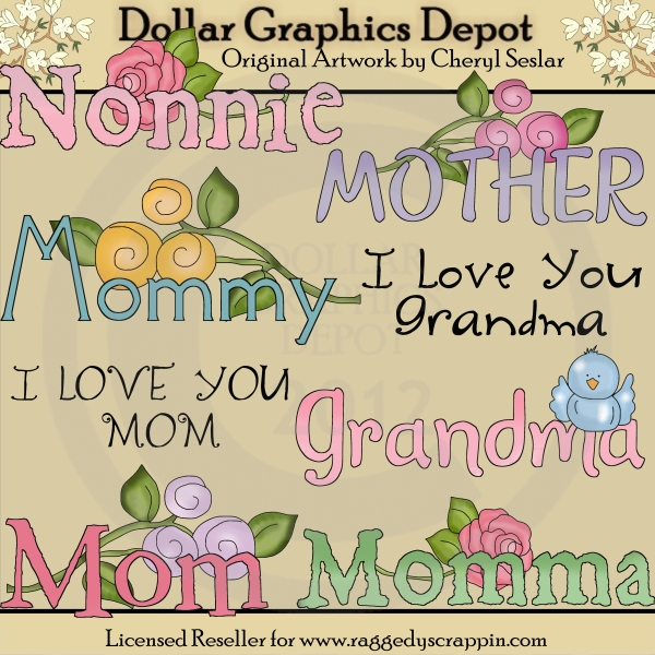 Mother's Day Word Art - Click Image to Close