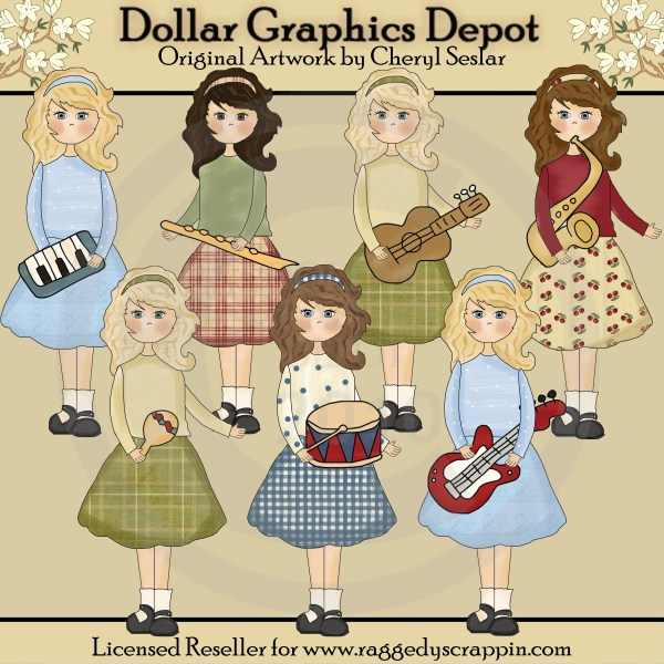 Musical Beauties - Clip Art - *DGD Exclusive* - Click Image to Close
