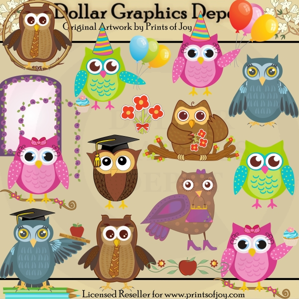 Owl Occasions - Clip Art - Click Image to Close