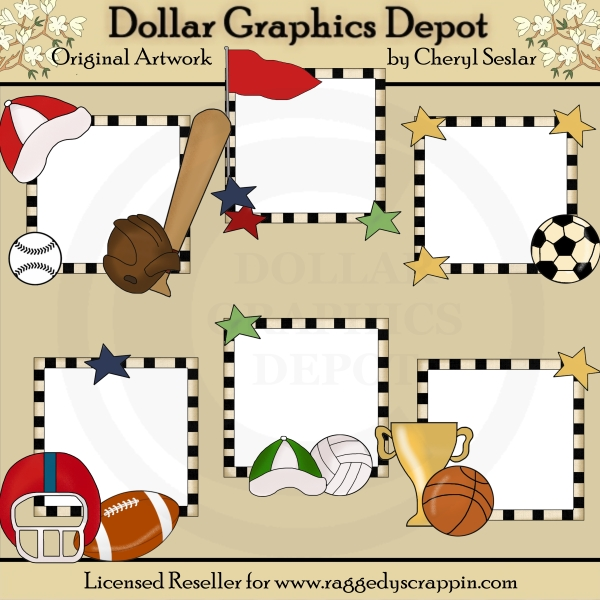 Picture Helpers - Sports - Clip Art - $1.00 : Dollar Graphics Depot ...