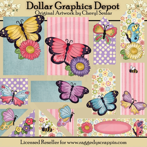 Pretty Butterfly - Scrappin Delights - Click Image to Close