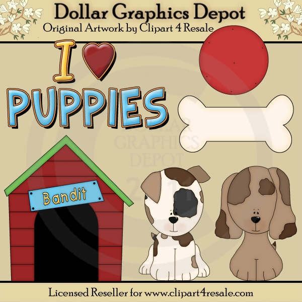 Puppies - Clip Art - *DGD Exclusive* - Click Image to Close