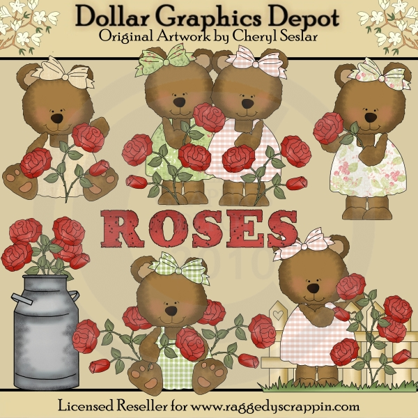 Rose Bears - *DGD Exclusive* - Click Image to Close