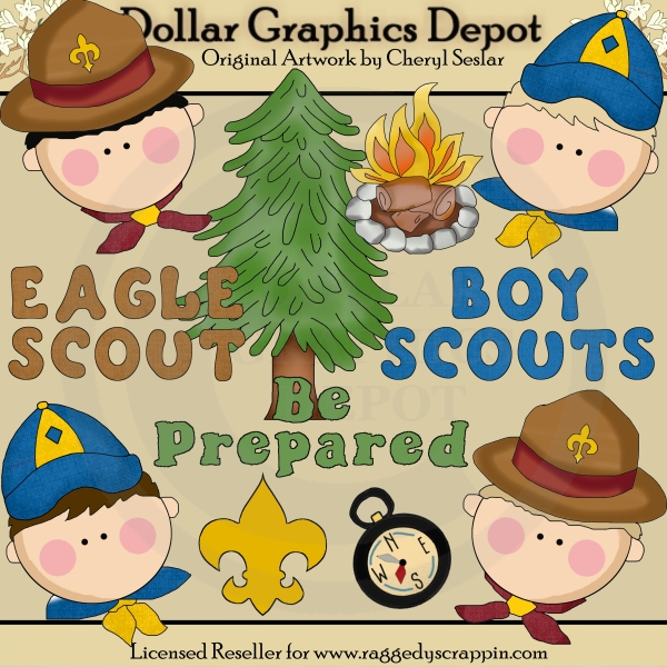 scout scouting clip art dollar graphics depot