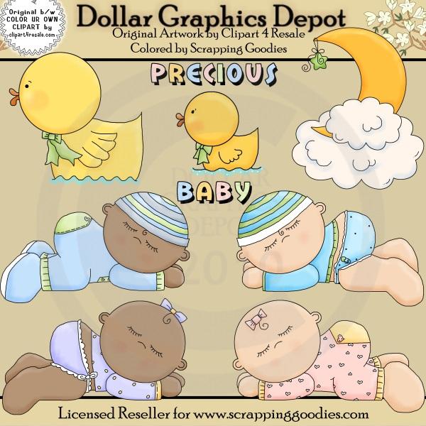 Sleeping Babies - Clip Art - $1.00 : Dollar Graphics Depot ...
