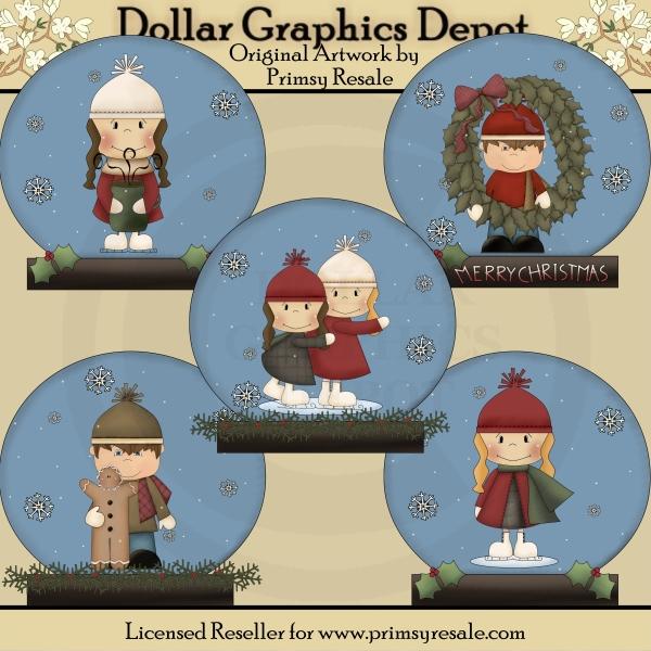 snow globes winter kids clip art 1 00 dollar graphics depot