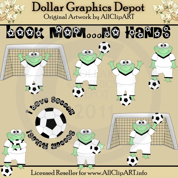 Soccer Frogs - Clip Art - Click Image to Close