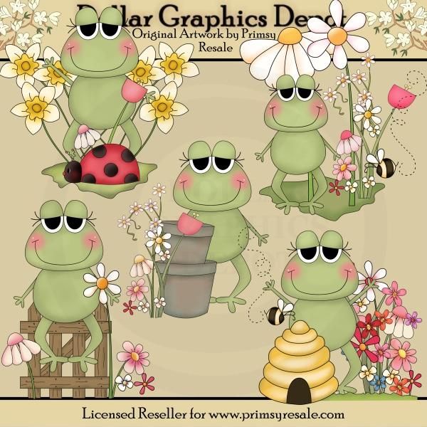 Cu/cute Spring Flower Clip Art