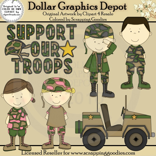 Support Our Troops - $1.00 : Dollar Graphics Depot, Quality ...