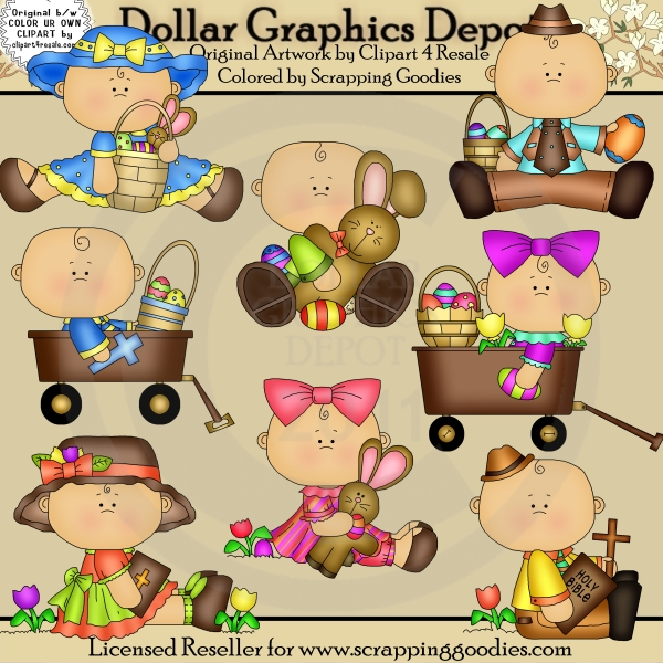 Sweet Easter Babies 1 - Clip Art - Click Image to Close