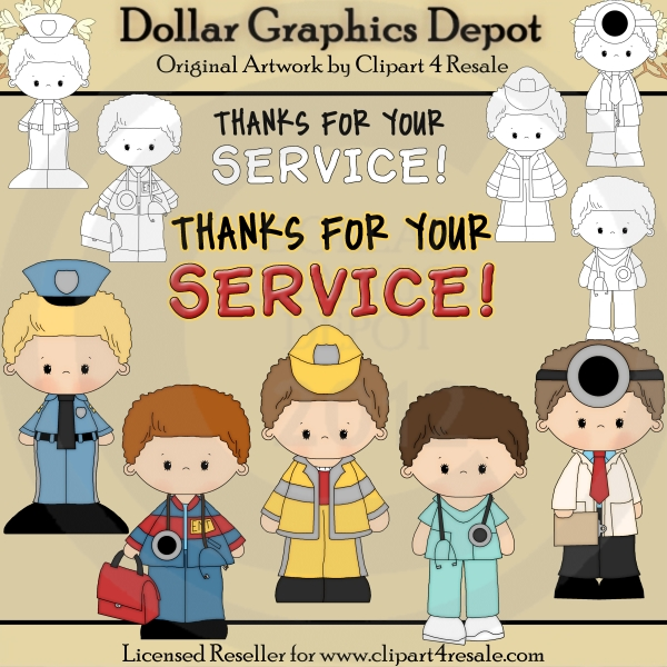 Thanks For Your Service - $1.00 : Dollar Graphics Depot, Quality ...