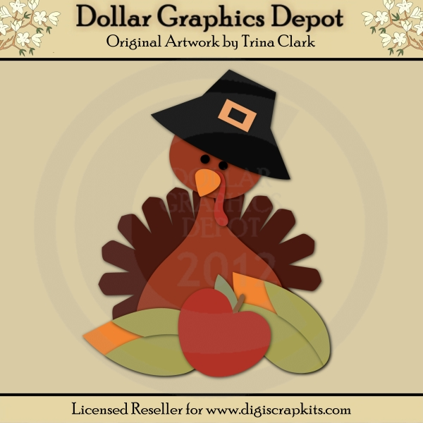 Thanksgiving Turkey 2 - Cutting Files / Paper Piecing Patterns - Click Image to Close