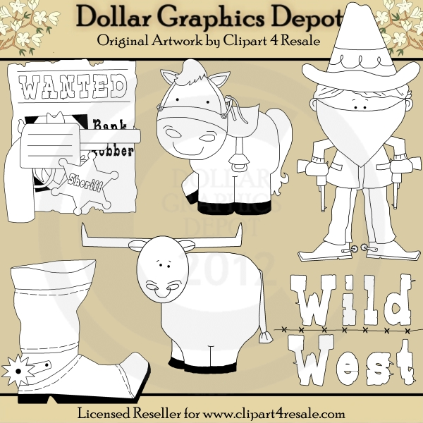 Wild West - Digital Stamps - Click Image to Close