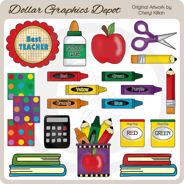 All About School - Clip Art - Click Image to Close