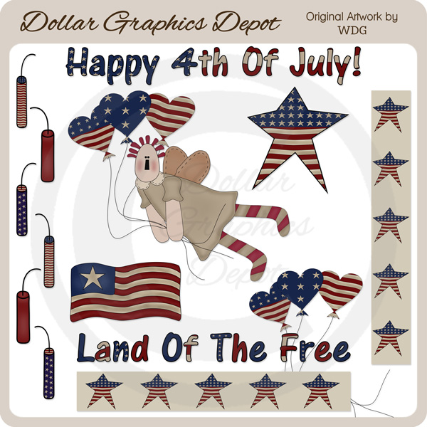 Americana Pride - Clip Art - *DGD Exclusive* - Click Image to Close