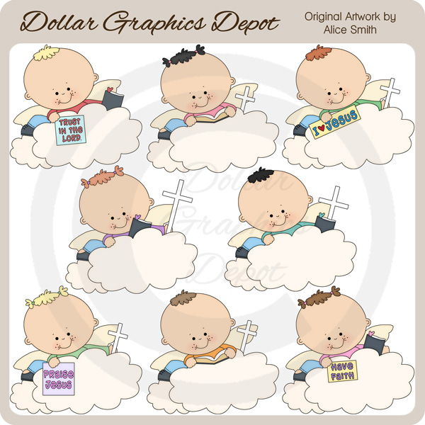 Angel Clouds - Clip Art - *DGD Exclusive* - Click Image to Close
