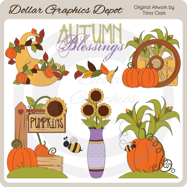 Autumn Blessings - Clip Art - Click Image to Close