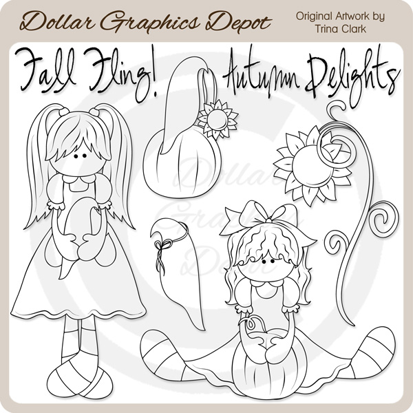 Autumn Delights - Digital Stamps - Click Image to Close