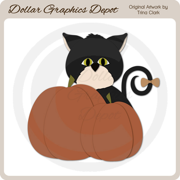 Autumn Kitty 1 - Cutting Files / Paper Piecing Patterns - Click Image to Close