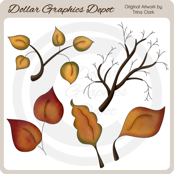 Autumn Leaves 2 - Clip Art - Click Image to Close