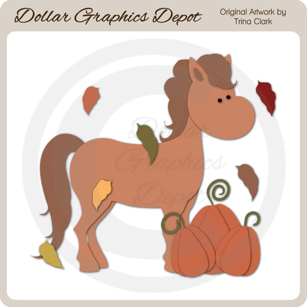 Autumn Pony 1 - Cutting Files / Paper Piecing Patterns - Click Image to Close