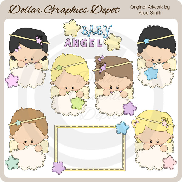 baby angel clip art 1 00 dollar graphics depot quality rh dollargraphicsdepot com baby boy angel clipart cute baby angel clipart