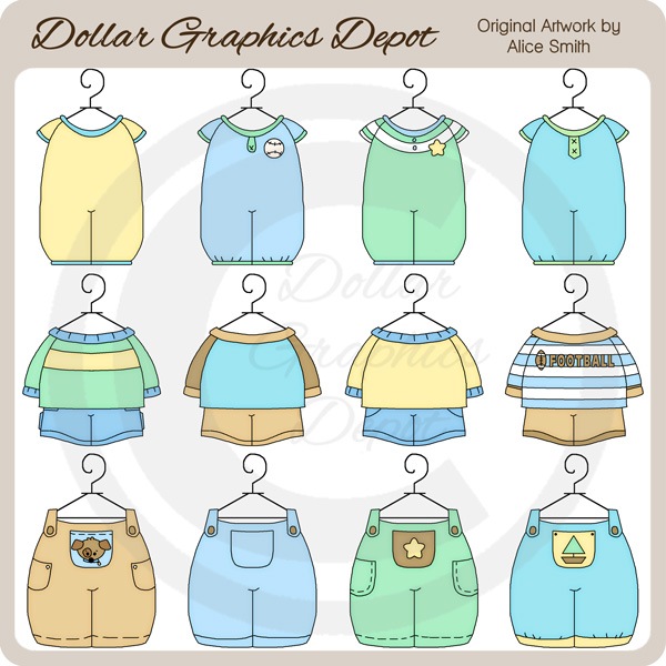 3d4f1b9105c1 Baby Boy Outfits 1 - Clip Art -  DGD Exclusive  -  1.00   Dollar ...