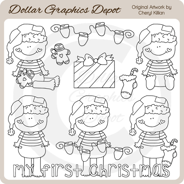 Baby Loves Christmas - Clip Art - Click Image to Close