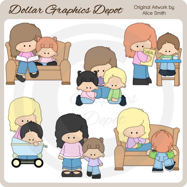 Babysitter - Clip Art - *DGD Exclusive* - $1.00 : Dollar Graphics ...