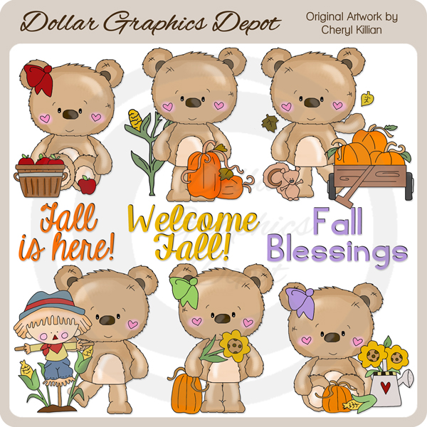 Bernard and Babs - Welcome Fall - Clip Art - Click Image to Close