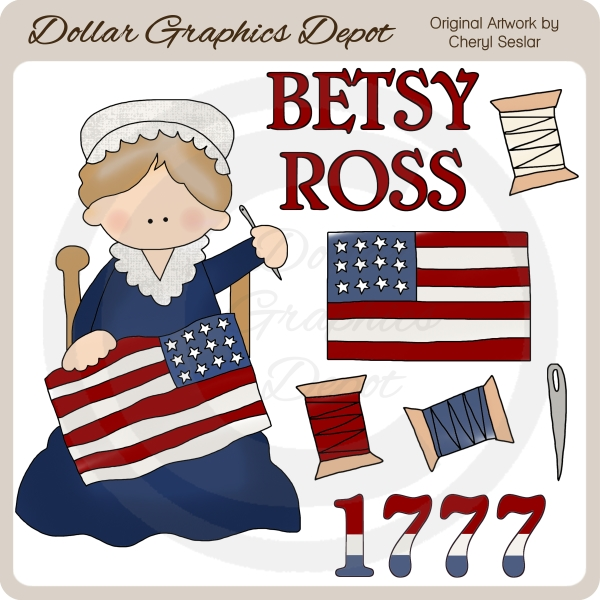 image relating to Betsy Ross Printable Pictures named Betsy Ross - Clip Artwork - $1.00 : Greenback Graphics Depot