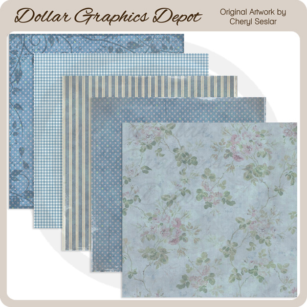 Blue Bayou - Scrap Papers - Click Image to Close