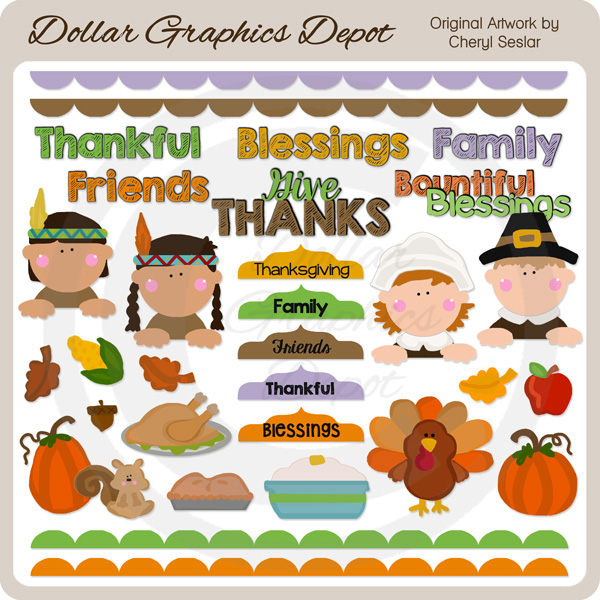 Bountiful Blessings - Clip Art - Click Image to Close