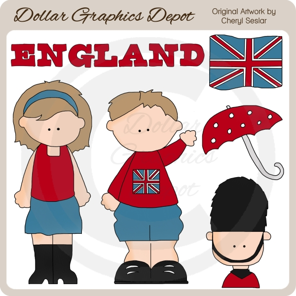 British Kids - Clip Art - $1.00 : Dollar Graphics Depot, Quality ...