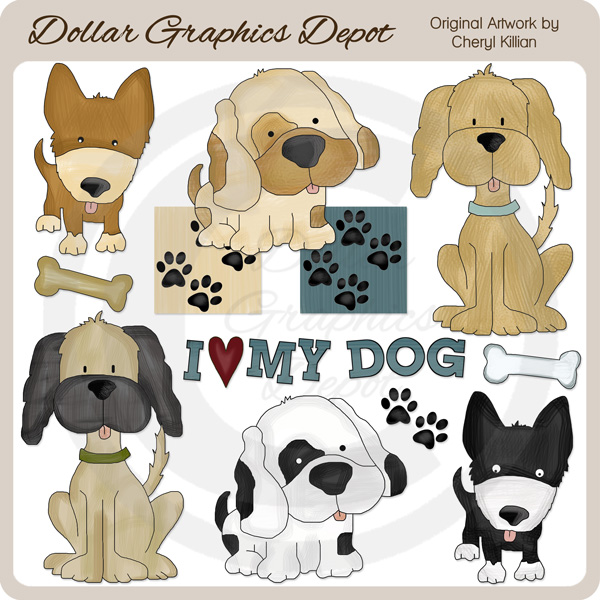 Canine Cuties - Clip Art - Click Image to Close