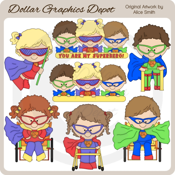 Capable Kids Superheroes - Clip Art - *DGD Exclusive* - Click Image to Close