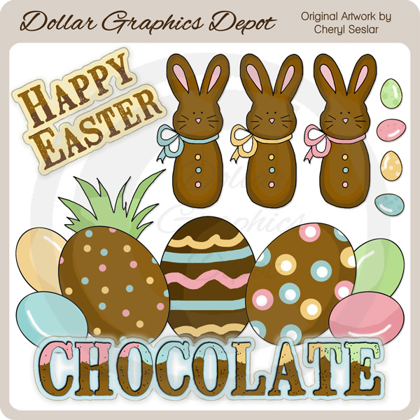Chocolate Easter 1 - Clip Art - Click Image to Close