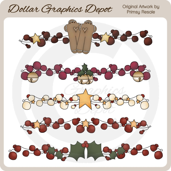 Awesome Christmas Berry Borders   Clip Art