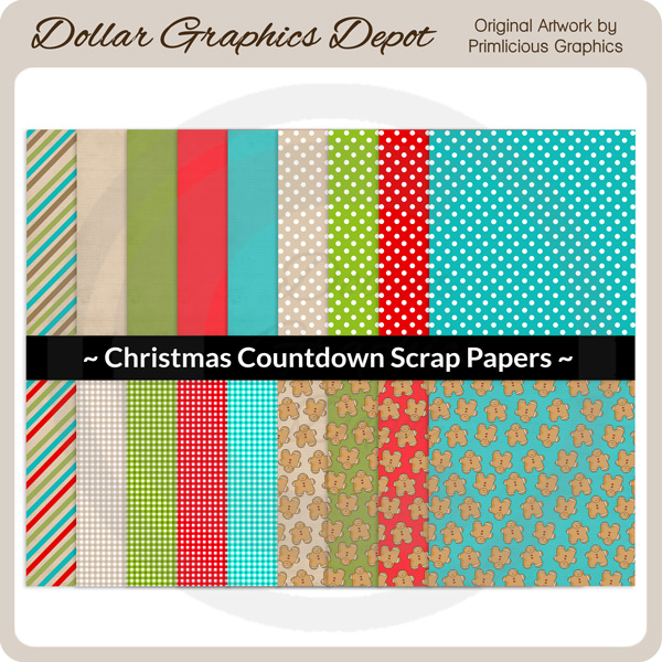 Christmas Countdown - Scrap Papers - Click Image to Close