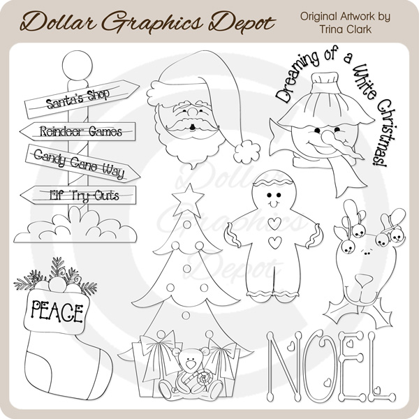 Christmas Town 3 - Digital Stamps - Click Image to Close